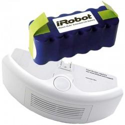 Pack batería IROBOT XLIFE + deposito estándar para IROBOT ROOMBA color blanco, series 500