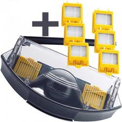 Pack deposito HEPA + 6 filtros HEPA para IROBOT ROOMBA serie 700