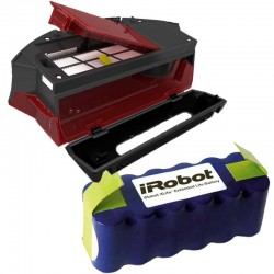 Pack batería IROBOT XLIFE + deposito HEPA para IROBOT ROOMBA series 800/900