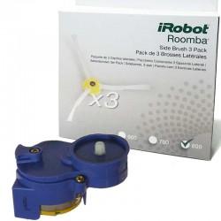 Pack motor cepillo lateral + 3 cepillos para IROBOT ROOMBA series 500/600/700