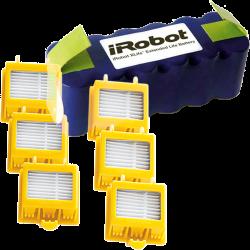 Pack batería IROBOT XLIFE + 6 filtros HEPA serie 700 para IROBOT ROOMBA